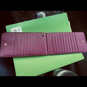 Leather 16 Card Wallet, Beautiful!